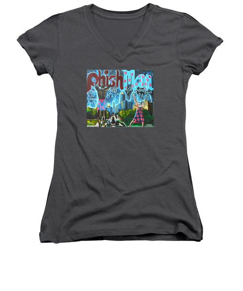 Phishmann Women's V-Neck T-Shirt (Junior Cut) by Kevin J Cooper Artwork