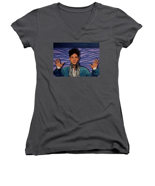 Prince Women's V-Neck T-Shirt (Junior Cut) by Paul Meijering
