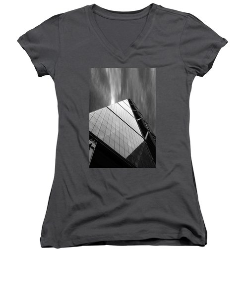 Sharp Angles Women's V-Neck T-Shirt (Junior Cut) by Martin Newman
