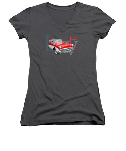 Love Women's V-Neck T-Shirt (Junior Cut) by Laur Iduc