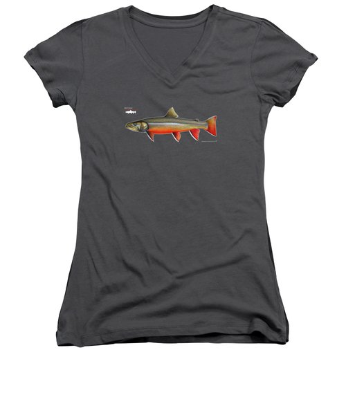 Spawning Bull Trout And Kokanee Salmon Women's V-Neck T-Shirt (Junior Cut) by Nick Laferriere