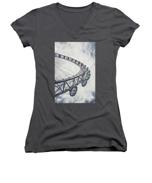 Spin Me Around Women's V-Neck T-Shirt (Junior Cut) by Evelina Kremsdorf