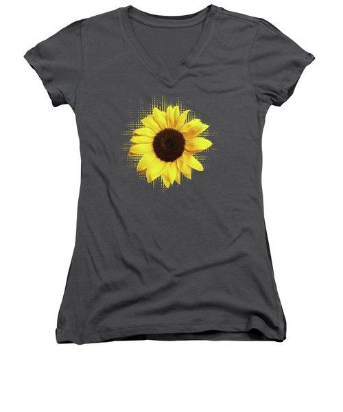 Sunlover Women's V-Neck T-Shirt (Junior Cut) by Gill Billington