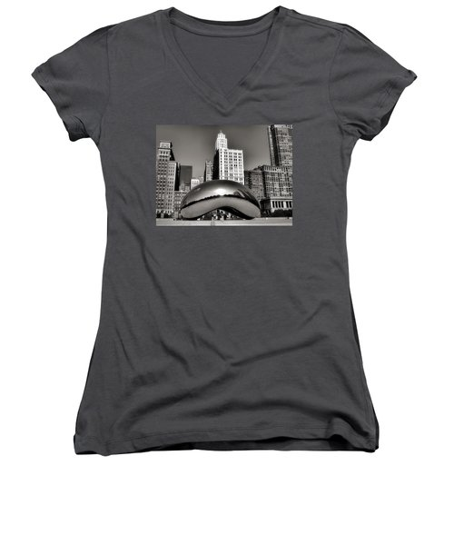 The Bean - 3 Women's V-Neck T-Shirt (Junior Cut) by Ely Arsha