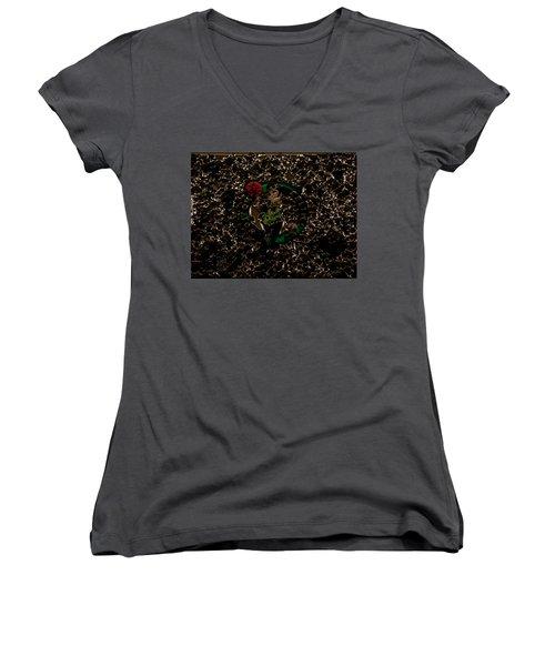 The Boston Celtics 1b Women's V-Neck T-Shirt (Junior Cut) by Brian Reaves
