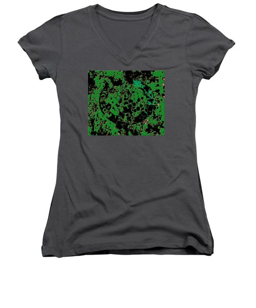 The Boston Celtics 6c Women's V-Neck T-Shirt (Junior Cut) by Brian Reaves