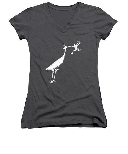 The Crane Women's V-Neck T-Shirt (Junior Cut) by Melany Sarafis