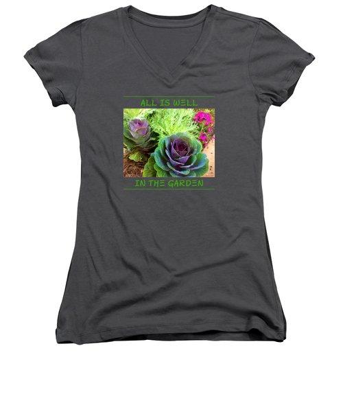 The Healing Garden Women's V-Neck T-Shirt (Junior Cut) by Korrine Holt