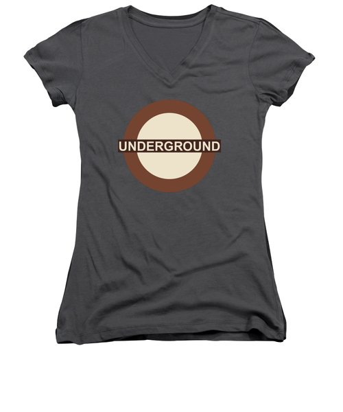 Underground75 Women's V-Neck T-Shirt (Junior Cut) by Saad Hasnain