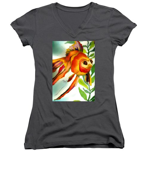 Underwater Fish Women's V-Neck T-Shirt (Junior Cut) by Lyn Chambers