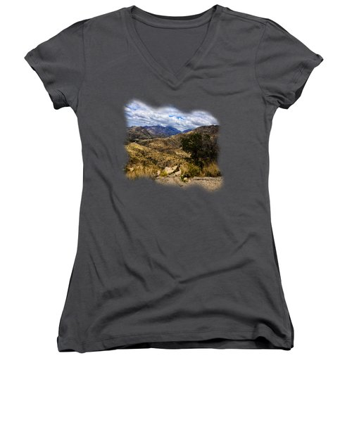 Windy Point No.15 Women's V-Neck T-Shirt (Junior Cut) by Mark Myhaver