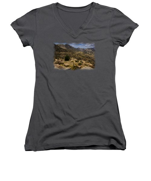 Windy Point No.5 Women's V-Neck T-Shirt (Junior Cut) by Mark Myhaver