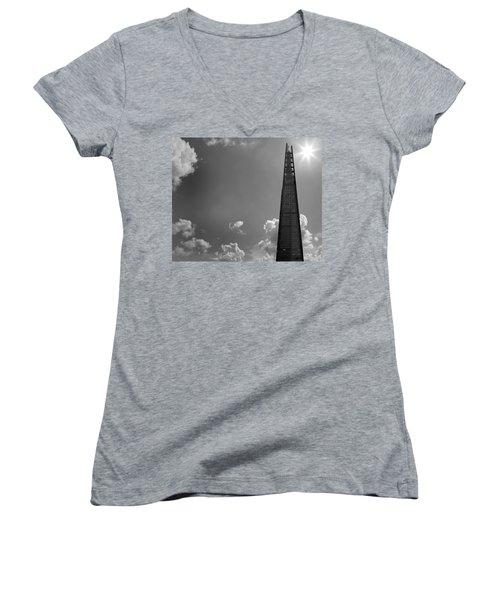 The Shard London Women's V-Neck T-Shirt (Junior Cut) by Martin Newman