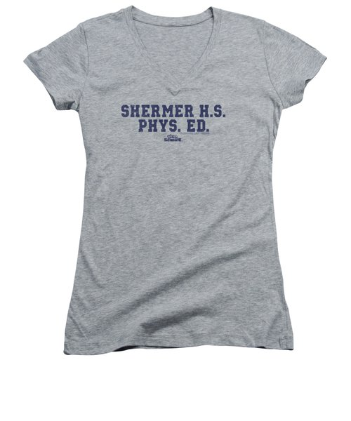 Weird Science - Shermer H.s. Women's V-Neck T-Shirt (Junior Cut) by Brand A