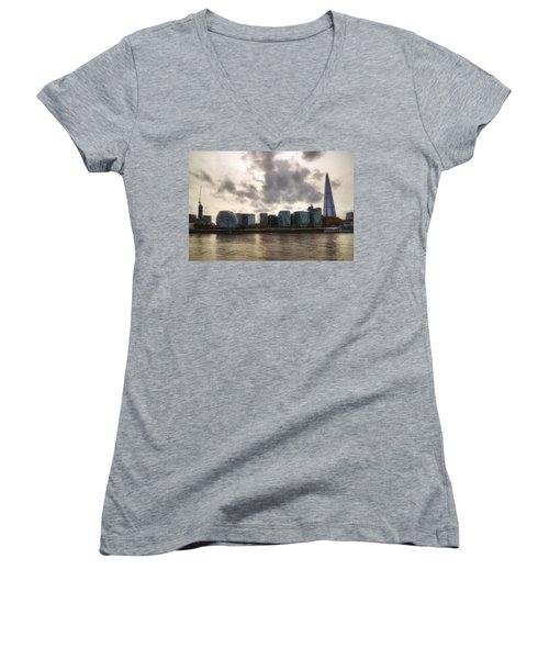 London Women's V-Neck T-Shirt (Junior Cut) by Joana Kruse