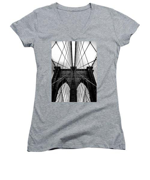 A Brooklyn Perspective Women's V-Neck T-Shirt (Junior Cut) by Az Jackson