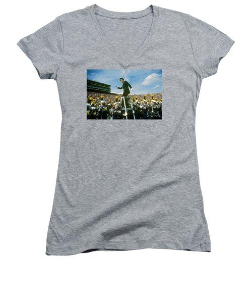 Band Director Women's V-Neck T-Shirt (Junior Cut) by James L. Amos
