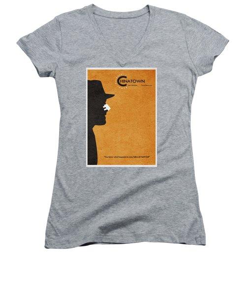 Chinatown Women's V-Neck T-Shirt (Junior Cut) by Ayse Deniz