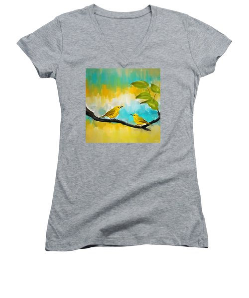 Companionship Women's V-Neck T-Shirt (Junior Cut) by Lourry Legarde