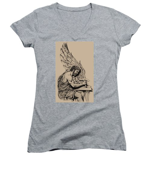 Daedalus Workshop Women's V-Neck T-Shirt (Junior Cut) by Derrick Higgins