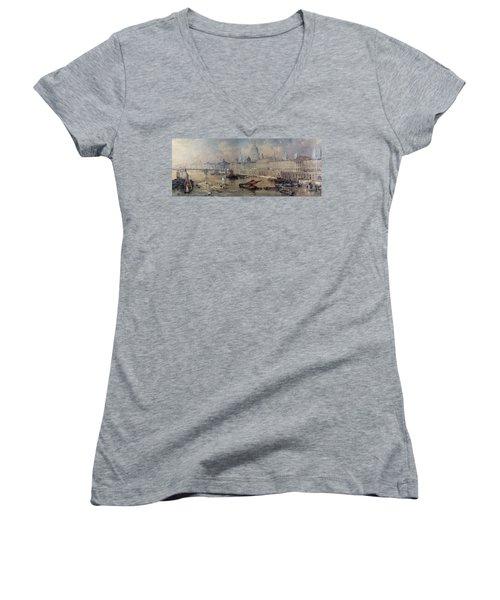 Design For The Thames Embankment Women's V-Neck T-Shirt (Junior Cut) by Thomas Allom