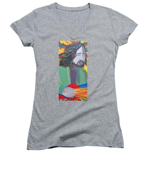 Eddie Women's V-Neck T-Shirt (Junior Cut) by Kelly Simpson