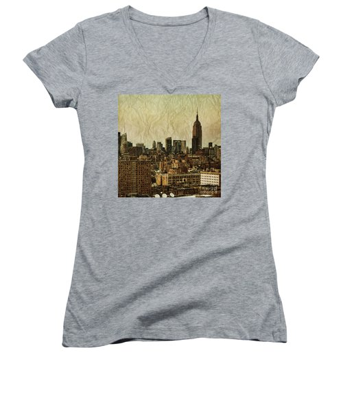 Empire Stories Women's V-Neck T-Shirt (Junior Cut) by Andrew Paranavitana