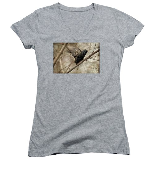 I'm Outta Here Women's V-Neck T-Shirt (Junior Cut) by Lois Bryan