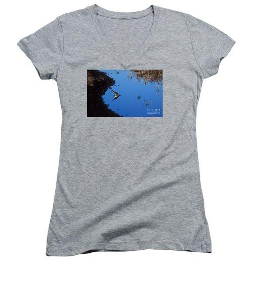 Killdeer Women's V-Neck T-Shirt (Junior Cut) by Steven Ralser