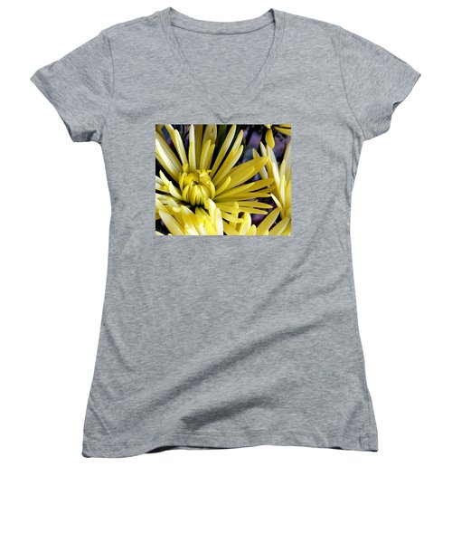 Like Bombs Bursting In Air Women's V-Neck T-Shirt (Junior Cut) by Joe Kozlowski