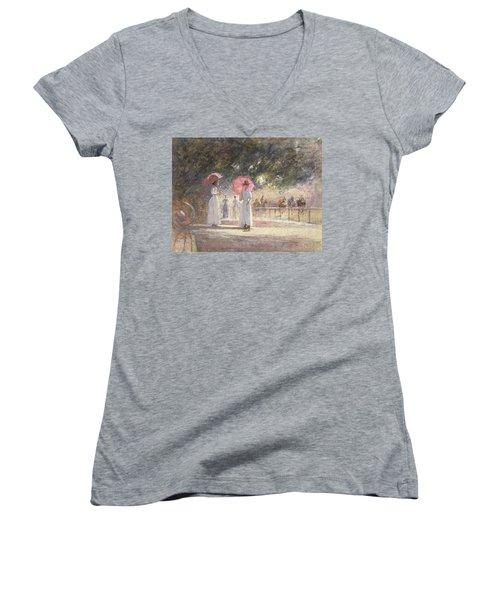 Rotten Row Women's V-Neck T-Shirt (Junior Cut) by Harry Fidler