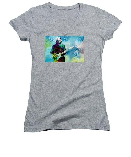 Tears In Heaven 2 Women's V-Neck T-Shirt (Junior Cut) by Bekim Art