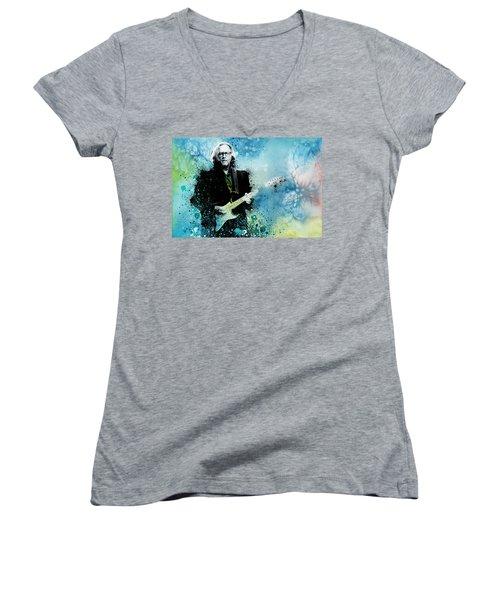 Tears In Heaven 3 Women's V-Neck T-Shirt (Junior Cut) by Bekim Art