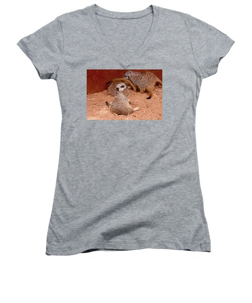 The Bored Babysitter Women's V-Neck T-Shirt (Junior Cut) by Michelle Wrighton
