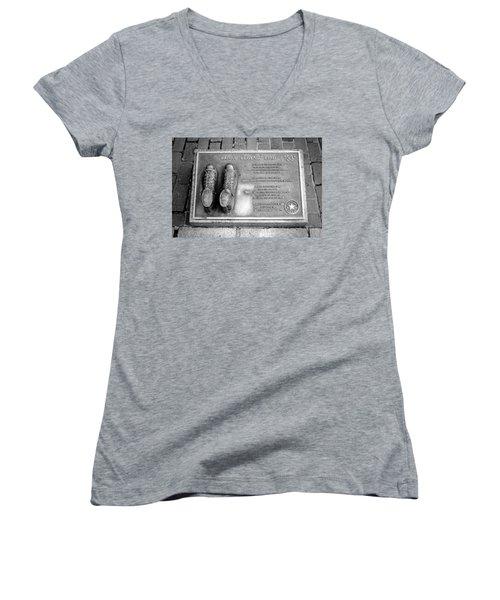 Tribute To The Bird Women's V-Neck T-Shirt (Junior Cut) by Greg Fortier