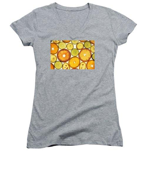 Citrus Slices Women's V-Neck T-Shirt (Junior Cut) by Photo Researchers