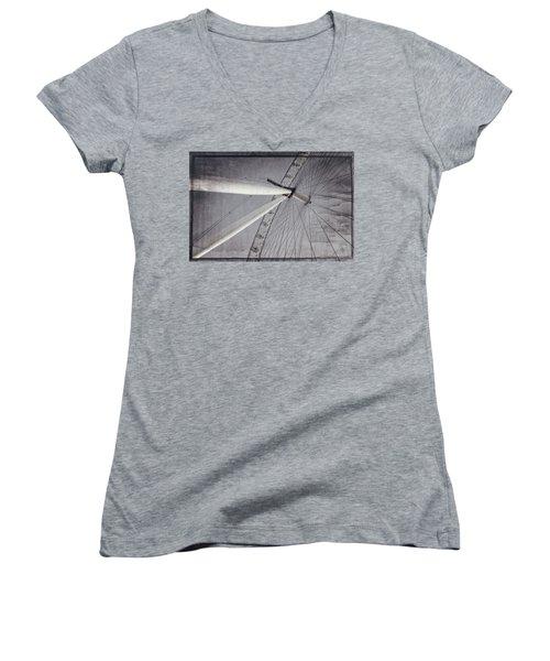 Eye On London Women's V-Neck T-Shirt (Junior Cut) by Joan Carroll