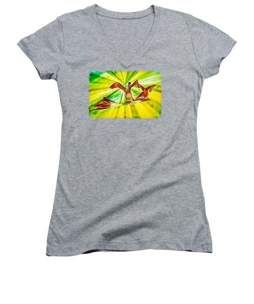 It's All Good Women's V-Neck T-Shirt (Junior Cut) by John M Bailey