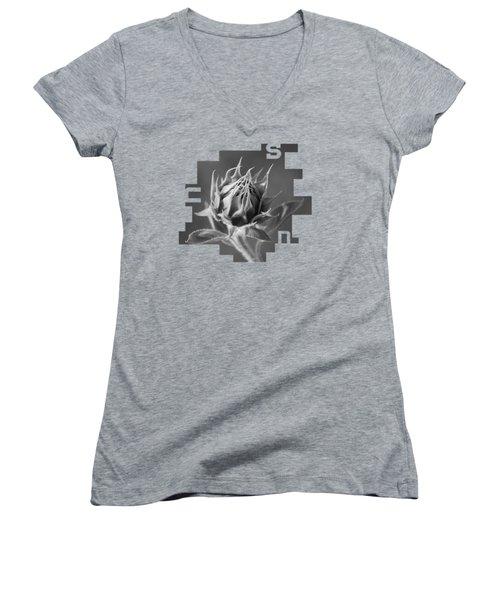 Sunflower Women's V-Neck T-Shirt (Junior Cut) by Konstantin Sevostyanov
