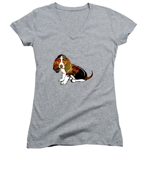 Boxer Collection Women's V-Neck T-Shirt (Junior Cut) by Marvin Blaine