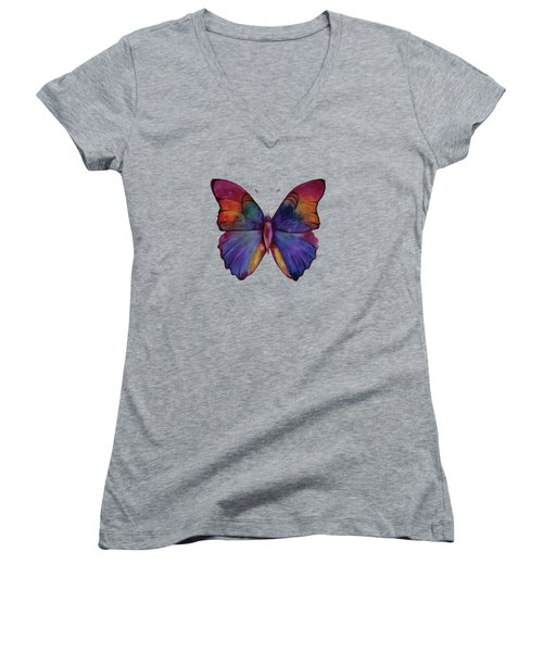 13 Narcissus Butterfly Women's V-Neck T-Shirt (Junior Cut) by Amy Kirkpatrick