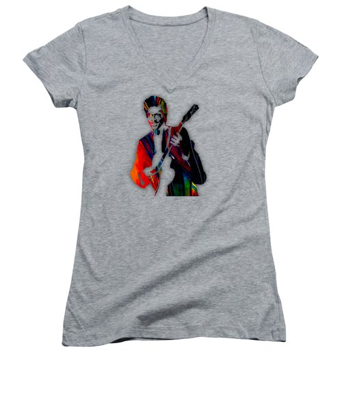 Chuck Berry Collection Women's V-Neck T-Shirt (Junior Cut) by Marvin Blaine