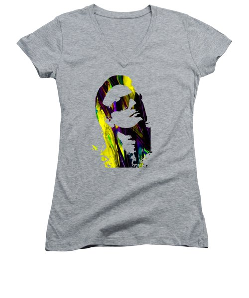 Bono Collection Women's V-Neck T-Shirt (Junior Cut) by Marvin Blaine