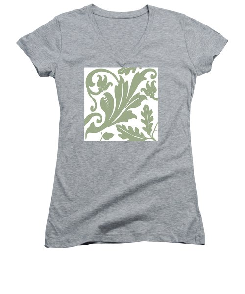 Arielle Olive Women's V-Neck T-Shirt (Junior Cut) by Mindy Sommers