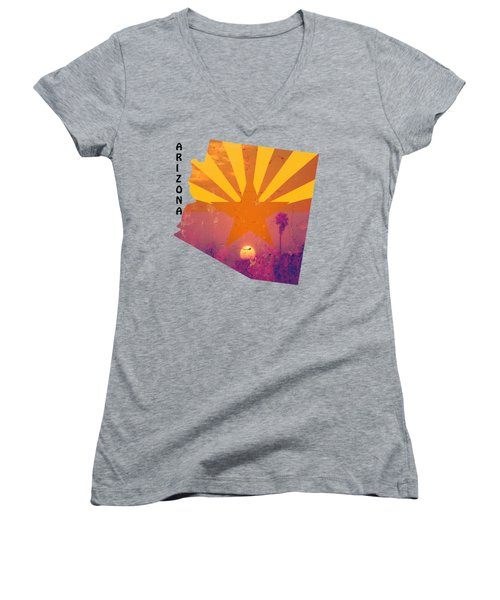Arizona Women's V-Neck T-Shirt (Junior Cut) by Beverly Guilliams