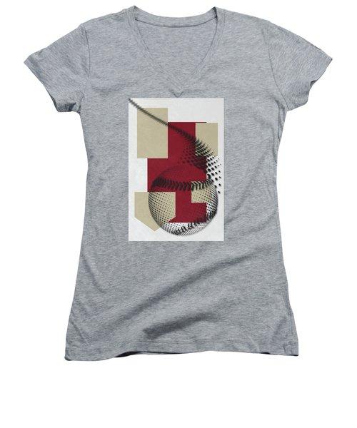 Arizona Diamondbacks Art Women's V-Neck T-Shirt (Junior Cut) by Joe Hamilton