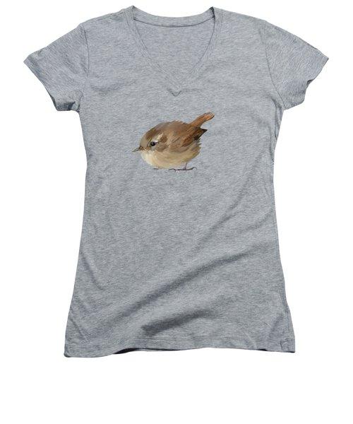 Wren Women's V-Neck T-Shirt (Junior Cut) by Bamalam  Photography