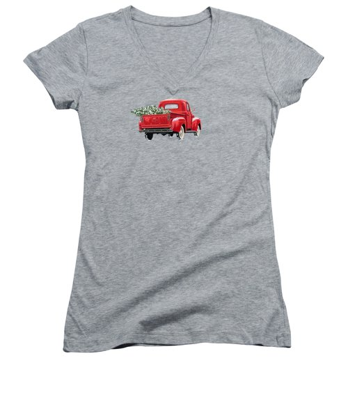The Road Home Women's V-Neck T-Shirt (Junior Cut) by Sarah Batalka
