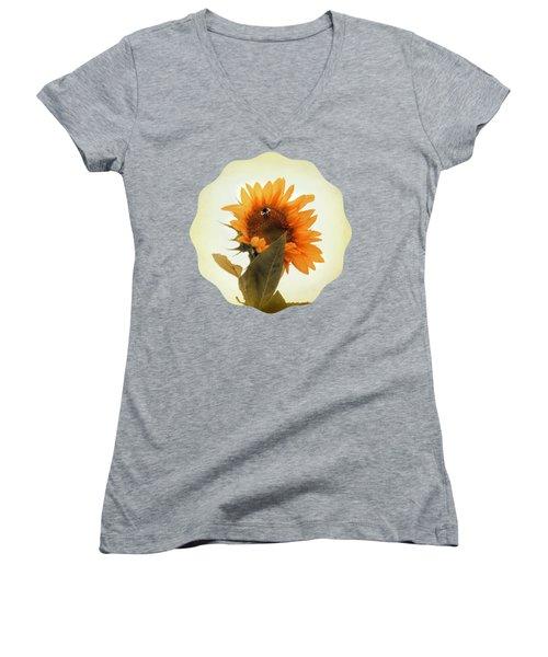 Bee Mine - Paint Women's V-Neck T-Shirt (Junior Cut) by Anita Faye