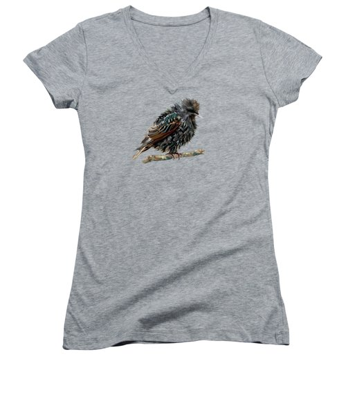 Wet Starling Women's V-Neck T-Shirt (Junior Cut) by Bamalam Photography